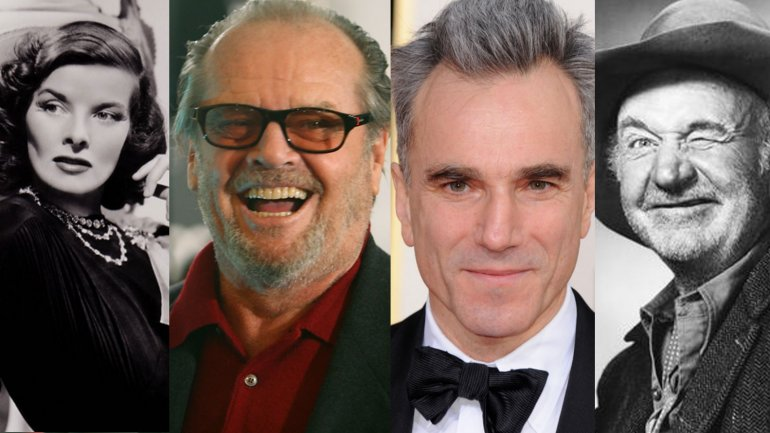 KatharineHepburn, Jack Nicholson,Daniel Day-Lewis, y Walter Brennan son los actores que más vecesganaron el Oscar