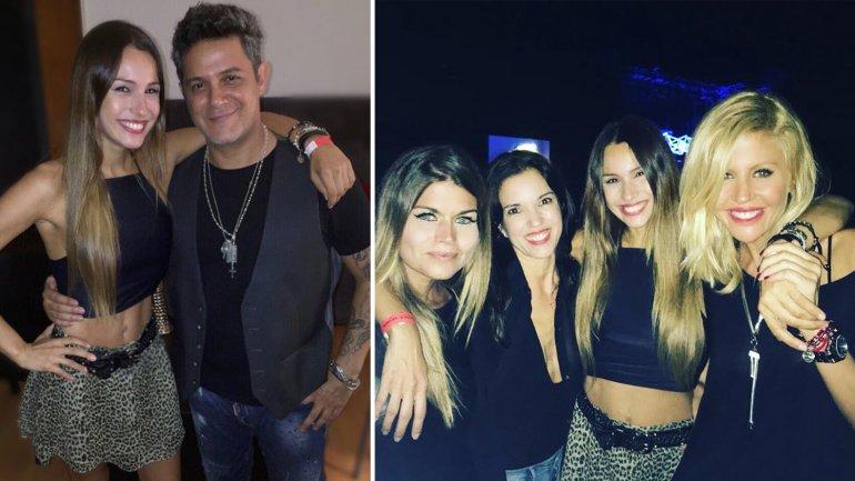 Con amigas, Pampita disfrutó del show de Alejandro Sanz en GEBA