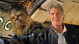 Chewbacca y Harrison Ford