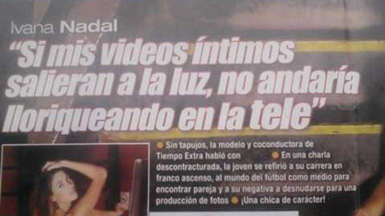 Ivana Nadal habló sobre sus fotos hot en el 2014
