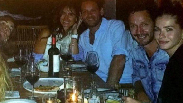 La China Suárez junto a Benjamín Vicuña en una cena que compartieron en Miami