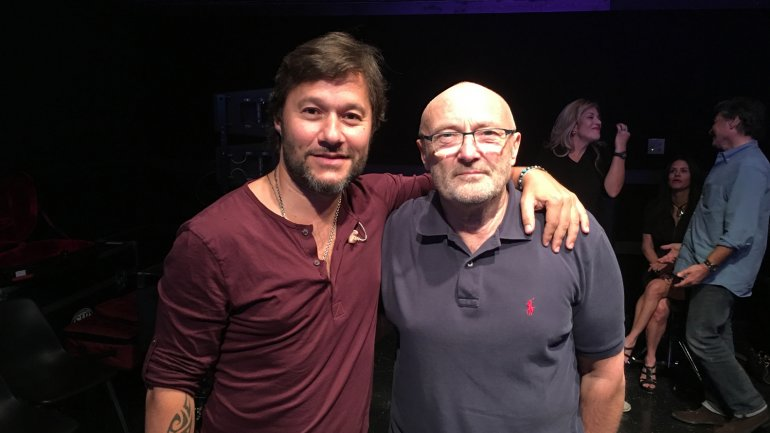 Diego Torres y Phil Collins