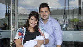 Diego Brancatelli y Cecilia Insinga presentaron a su hijo Valentín