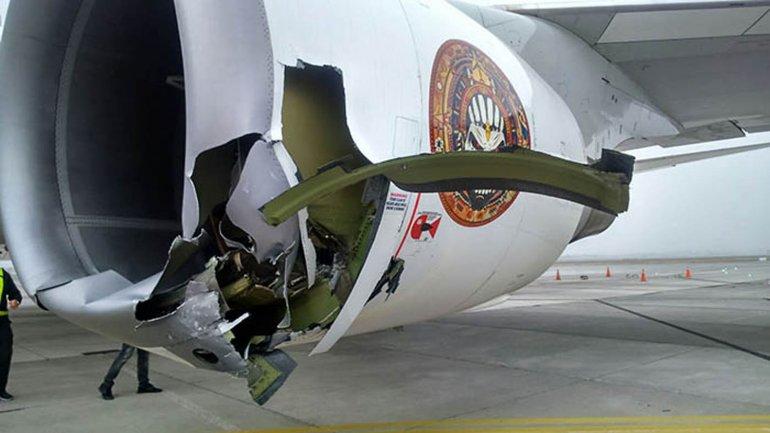 Chocó el avión de Iron Maiden