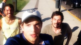 Ashton Kutcher en Buenos Aires