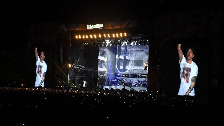 Eminem cerró la primera jornada del festival Lollapalooza Argentina 2016