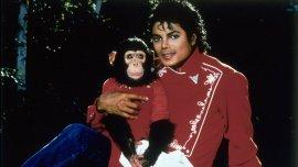 Michael Jackson con su chimpancé