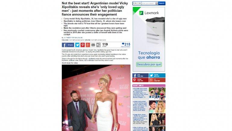 Captura del portal Daily Mail