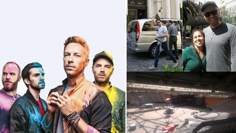 Primeras imagenes de Coldplay en la Argentina