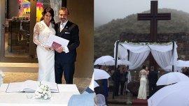 Las primeras fotos del casamiento de Pamela David y Daniel Vila