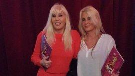 Susana Giménez junto con su hija en la función de prensa de Cirque du Soleil