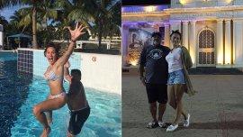 Diego Maradona y su novia