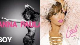 Las tapas de los discos de Anna Paula y Lali Espósito, ambos titulados Soy