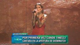 Candelaria Tinelli en la apertura de Showmatch