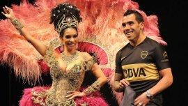 Tevez desfiló con la camiseta de Boca Juniors
