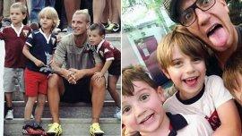 Maxi López con sus hijos