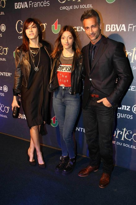 Cathy Fulop con Ova y Titi Sabatini