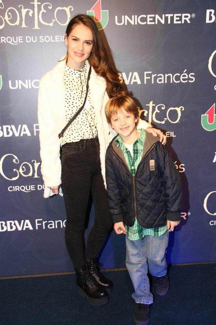 Luz Cipriotta con su sobrino