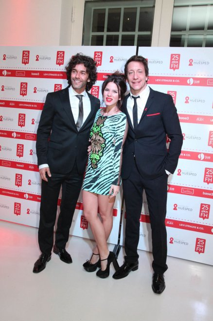 Mariano Martínez, Gime Accardi y Nico Vázquez