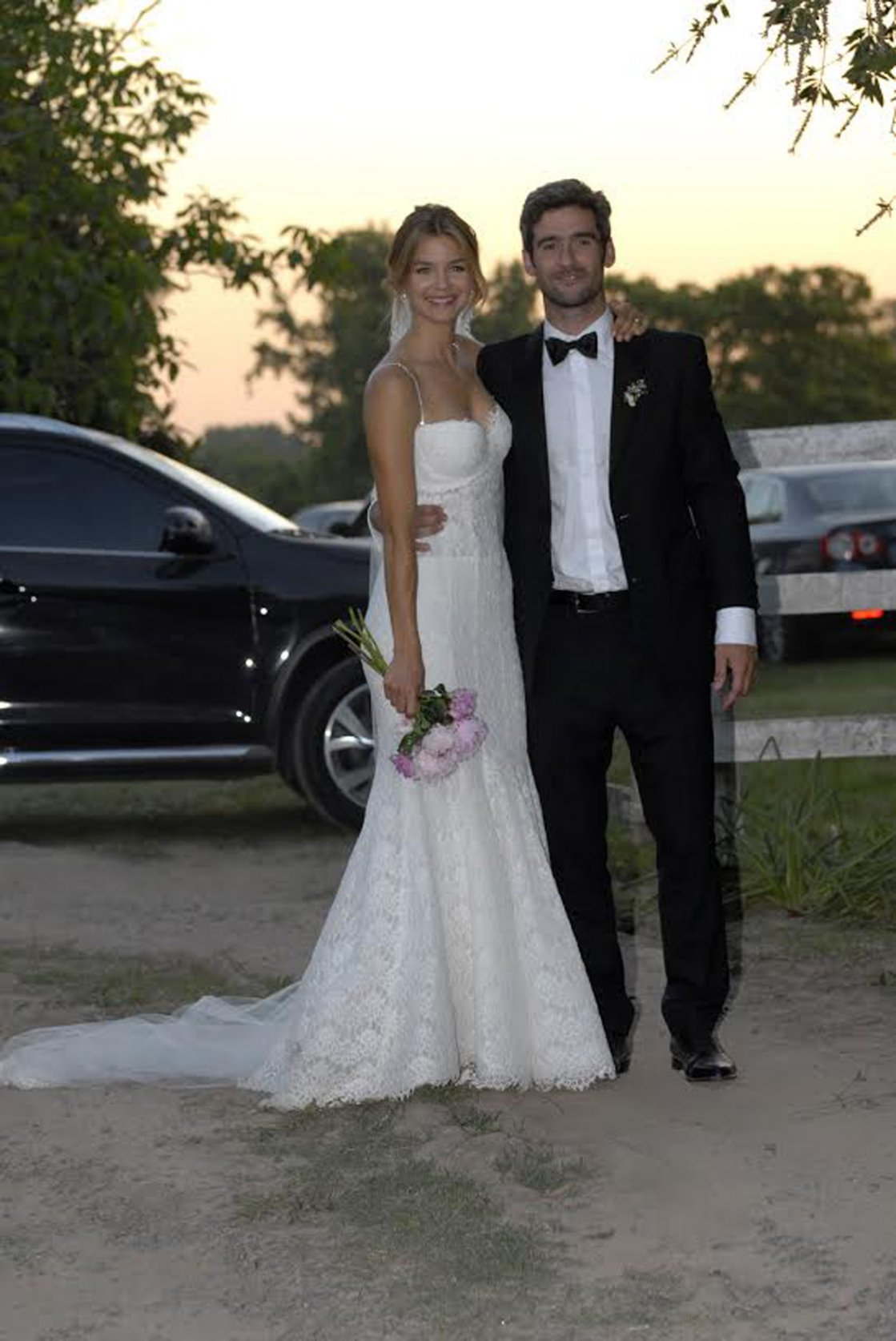 Marcela Kloosterboer yFernando Sieling, luego de haber dado el sí