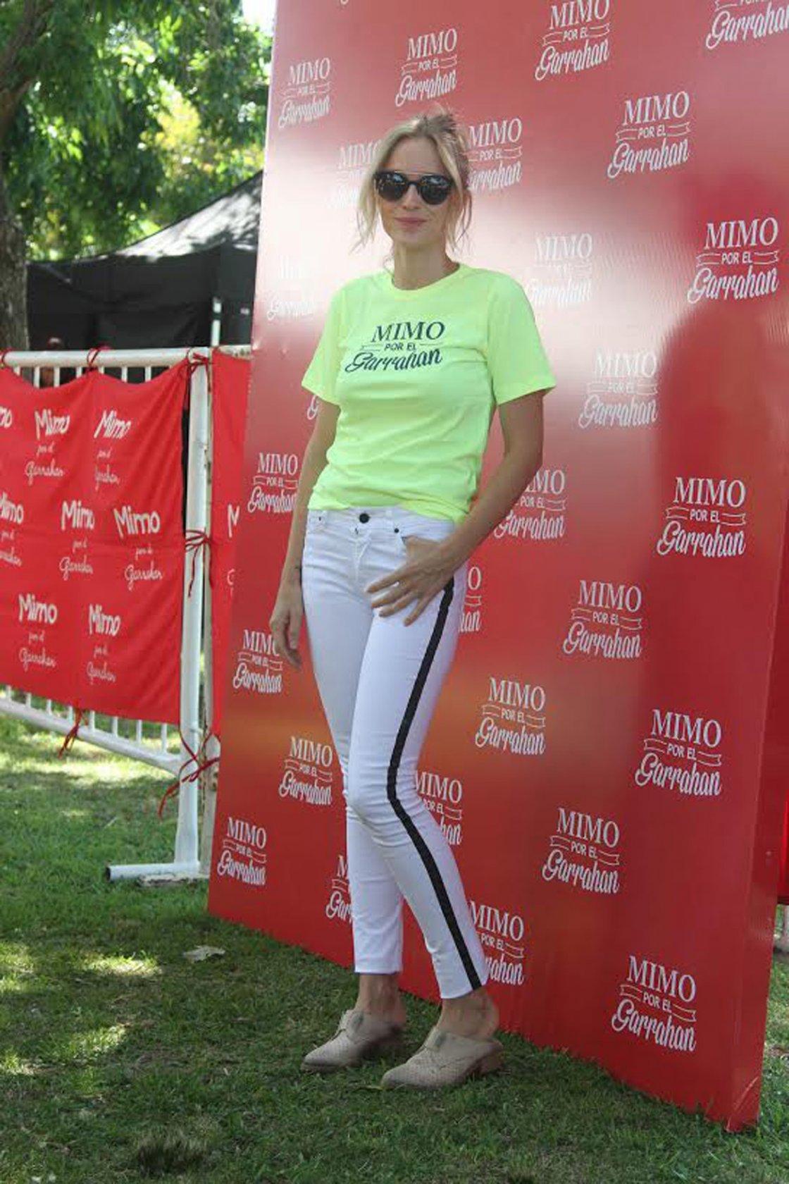 Brenda Gandini,en la caminata Mimmo por el Garrahan