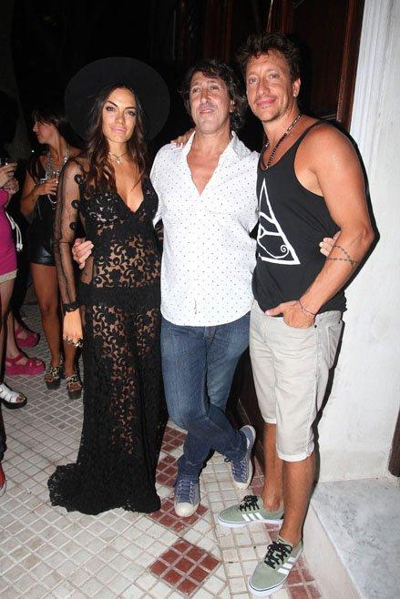 Emilia Attías, el Turco Naim y Nico Vázquez