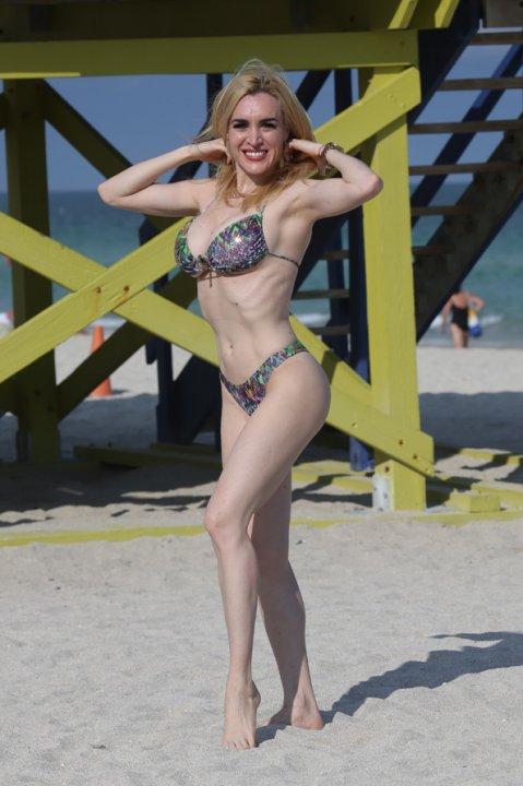 Fátima Florez, de descanso en las playas de Miami
