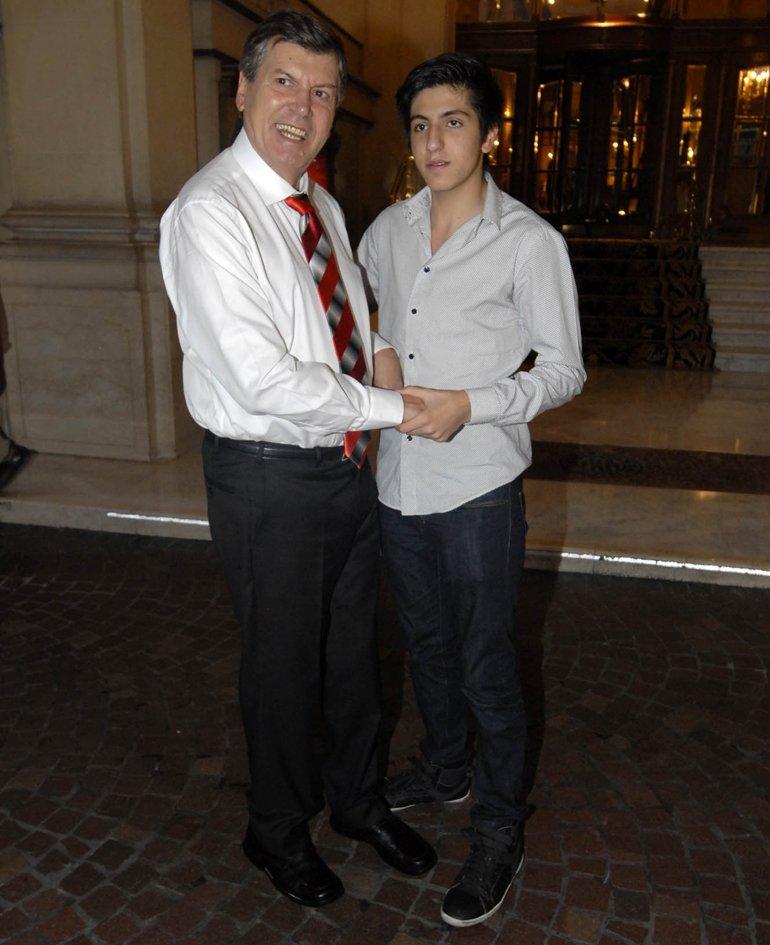 Carlín Calvo y su hijo Facundo