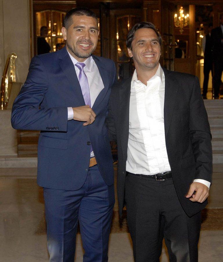 Juan Román Riquelme y Agustín Pichot