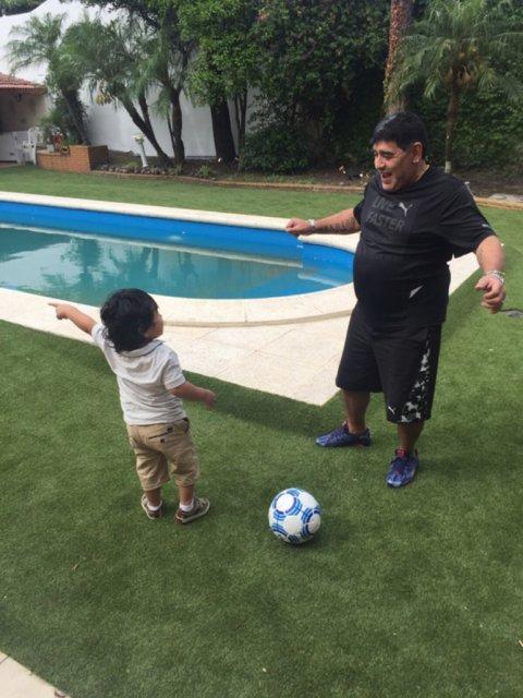 Maradona se reencontró con Diego Fernando