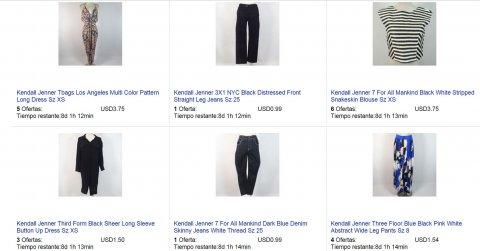 Algunos productos que las hermanas Kardashian venden en eBay