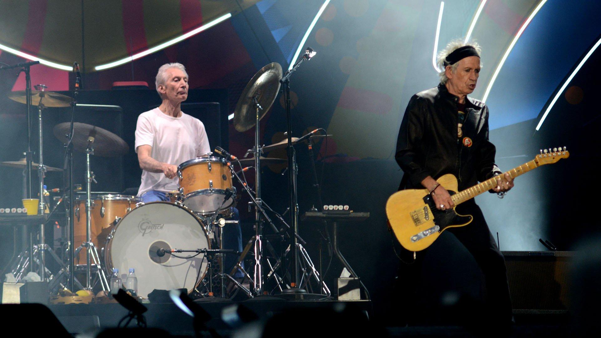 Charlie Watts y Keith Richards