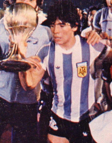 La camiseta que Diego Maradona usó en el Mundialito de 1979