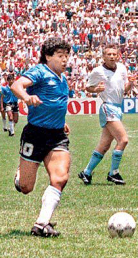 Los botines Puma que Diego Maradona usó en el encuentro entre Argentina e Inglaterra en 1986