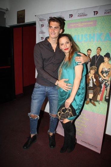 Ivana Figueras con su pareja, el modelo Tomi Guarracino