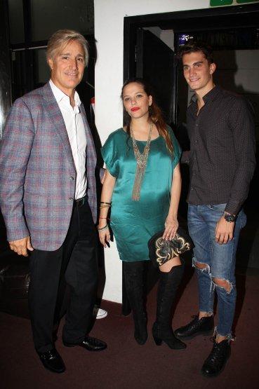 Marcelo e Ivana Figueiras junto a Tomi Guarracino