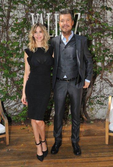 Marcelo Tinelli y Guillermina Valdes en la presentción de la nueva colección de la marca de zapatos de la modelo