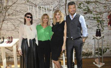 Guillermina Valdes y Marcelo Tinelli con Connie Ansaldi y Marcela Coronel
