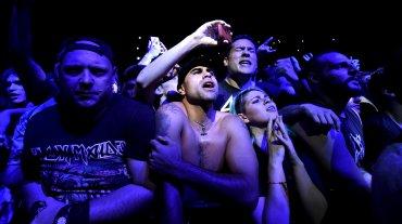 Más de 40 mil personas vieron a la banda en Liniers. El grupo formó tras doce visitas al país un fuerte lazo con los metaleros locales