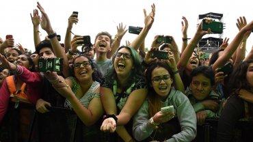 El público de Lollapalooza Argentina 2016 en el show de Twenty One Pilots