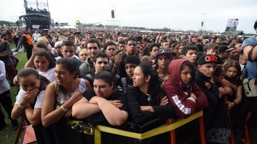 El público en el show de Jungle
