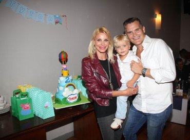 Jimena Cyrulnik con Lucas kirby y su hijo Tyron