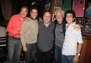 El festejo de Pagani con algunos de sus mejores amigos