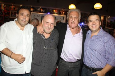 Marcelo Palacios, Horacio Pagani, Alfio Basile y Gastón Recondo