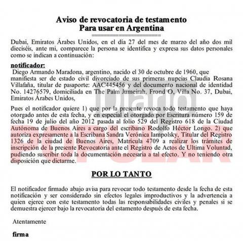La versión traducida de la resolución