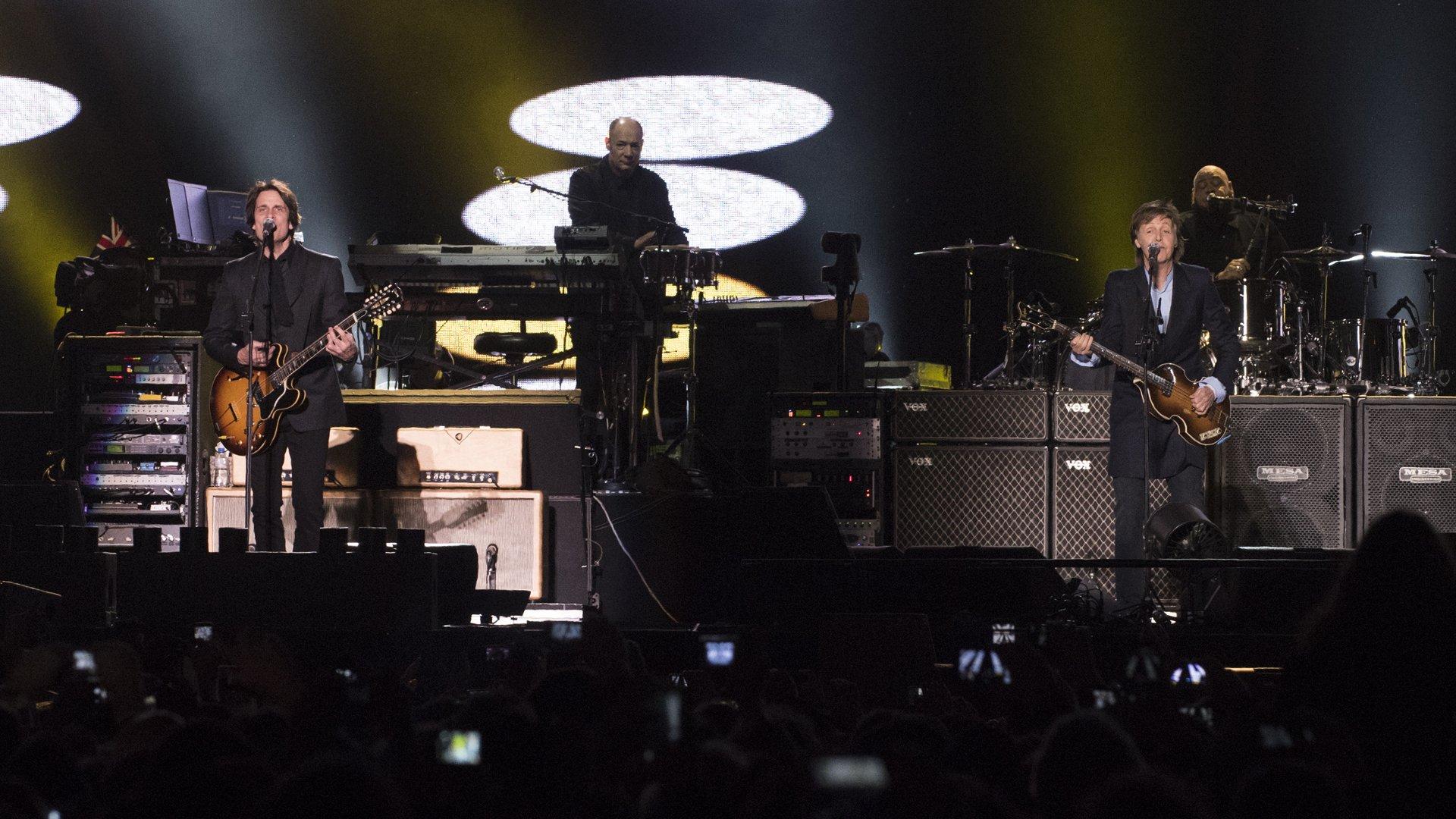 Además, hubo momentos dedicados a Wings, la banda que armó al tiempo de separarse de los Beatles